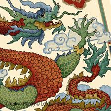 china designs lesley teare designs chinese dragon cross stitch pattern
