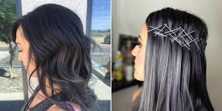 gray colors charcoal hair is trending on instagram allure