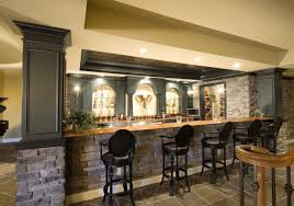 Basement Decor Ideas Bar Amazing Custom Bar In Basement Decorating Basement Bar