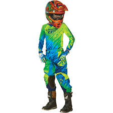 fly motocross jersey fly racing 2015 kinetic glitch jersey pant youth package blue hi
