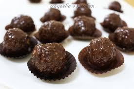 easy dessert recipes chocolate laddoo chocolate balls