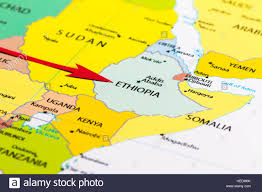 Map If Africa by Red Arrow Pointing Ethiopia On The Map Of Africa Continent Stock