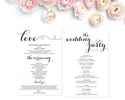diy wedding ceremony programs wedding program template wedding programs ceremony program
