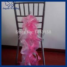 cheap chair sashes sh001b wholesale 2015 cheap fancy wedding organza hot pink