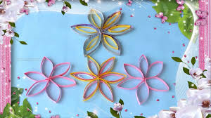 paper craft home decor home decor abstract flowers in paper crafts by srujanatv youtube