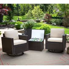 Oakland Patio Furniture Suncast Resin Wicker Side Table Brown All Weather Wicker Round