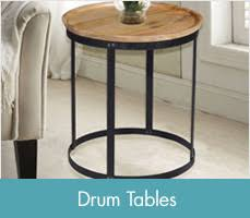 Drum Accent Table Accent U0026 End Tables Glass Metal U0026 Wood End Tables Bed Bath