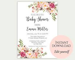 baby shower invite floral baby shower invitations floral baby shower invitations as