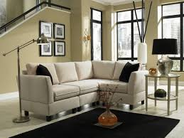 Modern Furniture Small Spaces by Living Room Small Space Sectional With Polkadot Pillow Sofa For