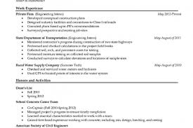 Sample Civil Engineering Resume Entry Level by Civil Engineer Resume Entry Reentrycorps