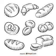bread drawings collection vector free download