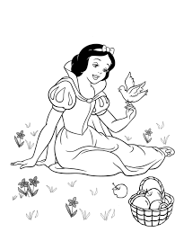 snow white coloring book coloring pages kids