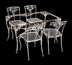 vintage iron dining room table u0026 chairs dining room table and iron