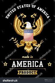 mazda made in usa made usa bold eagle golden vintage stock vector 216626158