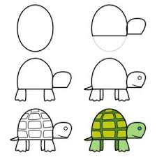 how to draw a turtle we could use these to teach the girls how to