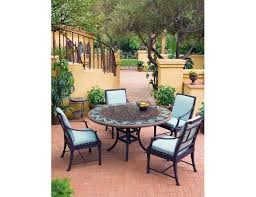 Mosaic Patio Furniture Knf Designs Round Mosaic Tiled Bistro Table