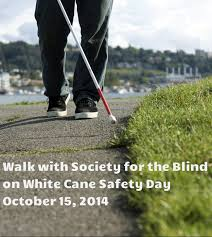 White Cane Blind White Cane Safety Day 2014 1 Society For The Blind