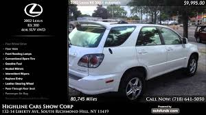 lexus richmond hill used 2002 lexus rx 300 highline cars show corp south richmond