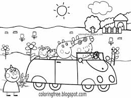 coloring pages peppa the pig peppa pig color pages printable coloring colouring within designs 18