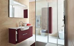 red and grey bathroom ideas stainless steel high single sink