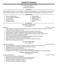 Scannable Resume Template Resume Sample For Pipefitter Http Resumesdesign Com Resume