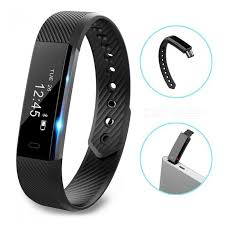 bracelet tracker images Id115 touch screen fitness tracker watch smart bracelet black jpg