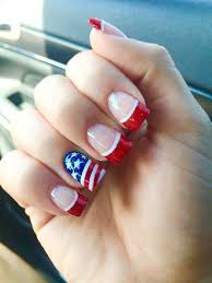 patrioticnails quenalbertini july 4th nail art design