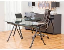 L Shaped Studio Desk Studio Tempered Glass And Iron Desk 48 U0027 U0027 Studio Desk Small