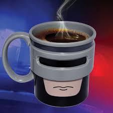 novelty coffee mugs novelty robocup mug ceramic crime fighting tea coffee cup half man