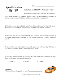 How The Earth Was Made Worksheet Answers Formula Speed Distance Ed