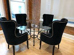 Dining Table And Fabric Chairs Dining Table Upholstered Arm Chair Traditional Dining Rooms