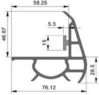 joint de chambre froide joint porte isotherme positive ou negative pour chambre froide n 1022