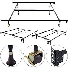 new metal bed frame adjustable queen full twin size with center