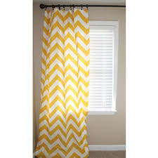 2 panels of large yellow chevron curtains 50x106 polyvore