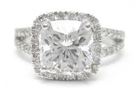 cushion cut split shank engagement rings 3 25ctw cushion cut split shank style engagement ring