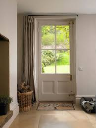 curtain door u0026 belinda plaid sheer french door curtain panel