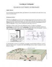 english teaching worksheets earthquakes