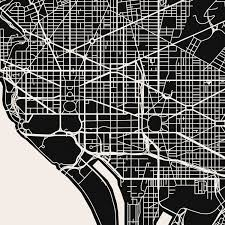 Washington Dc City Map by Washington D C Map Art Print Mr City Printing Touch Of Modern