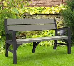 Keter Folding Bench Resin Garden Bench Seat Keter Deliver The Smart Solution For A