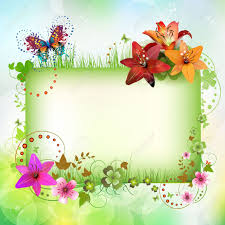banner with flowers and butterflies royalty free cliparts vectors
