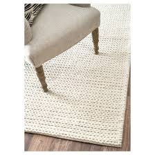 Chunky Wool Rug Wool Hand Woven Chunky Woolen Cable Rug Nuloom Target