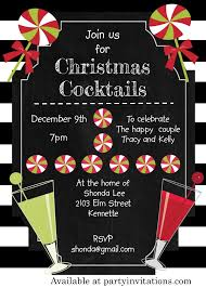 black and white christmas cocktail party invitations christmas
