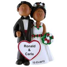 american newlyweds ornament africans and ornament