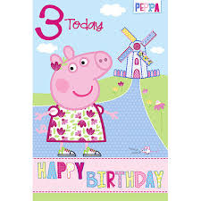 peppa pig birthday peppa pig age 3 birthday card the entertainer the entertainer