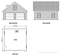 Side Garage Floor Plans Double Garage With Loft Cedar Log Garage Maine Cedar Log Homes