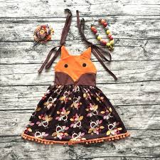 2017 summer dress dress children fox turkey dress