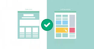 does google favor custom websites over templates