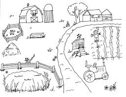 Delightful Ideas Farm Coloring Page Free Printable Animal Pages Farm Color Page