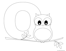 j coloring pages printable alphabet letter o worksheet letter o is for owlfree