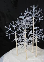 Christmas Cake Decorations On Ebay by Snowflake Cake Decoration Homemade Ginger